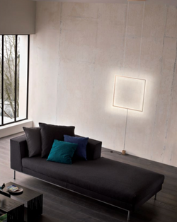Moderní svítidlo ve tvaru čtverce