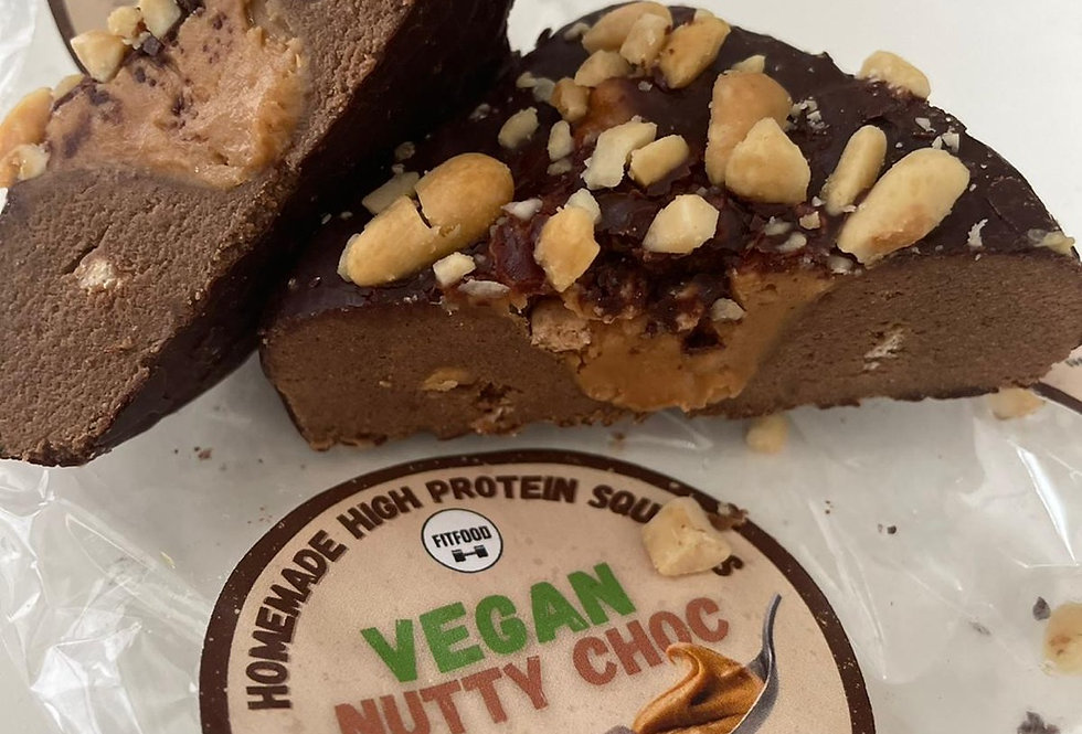 Vegan Nutty Choc Protein Square