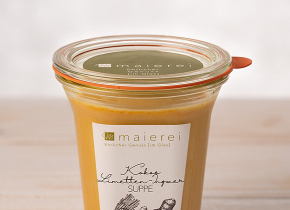 Kokos-Limetten-Ingwer-Suppe