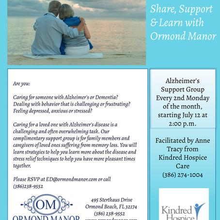 New! Alzheimer's Support Group in Ormond Beach!