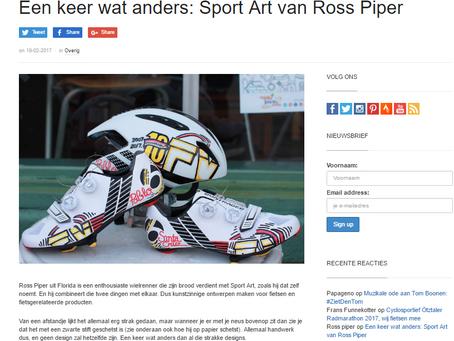 Dutch Cycling RaceFietsBlog features Ross Piper Designs