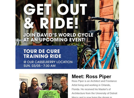David's World Cycle Newsletter- Meet: Ross Piper