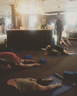 Yoga in the Workplace!__One of my most favorite things to offer is bringing yoga to you at WORK!__It