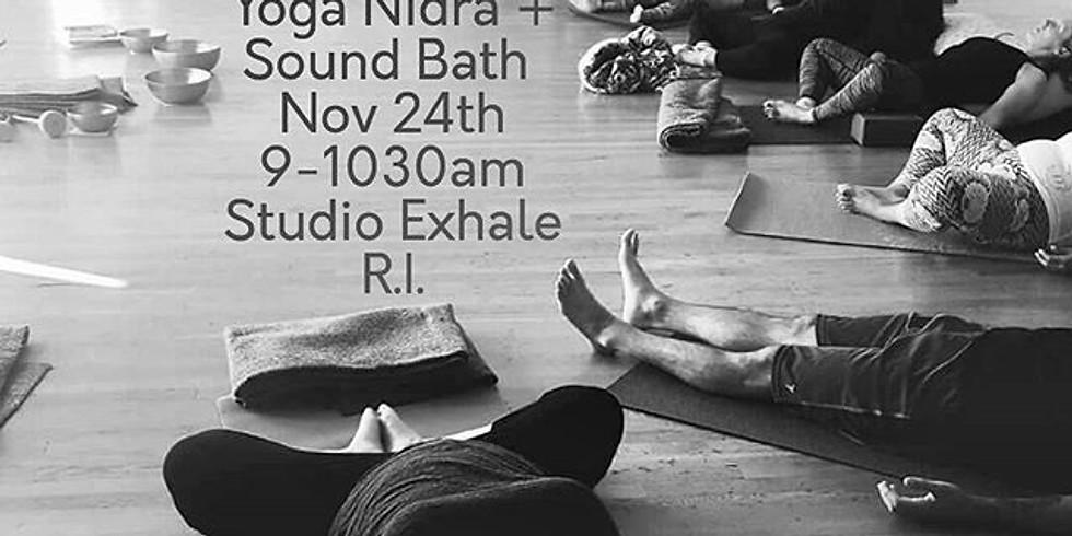 """Yoga Nidra + Sound Bath""- A Deep Relaxation Masterclass"