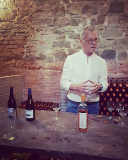 Meet Thierry Bescanon!__Casanuova Locanda's owner giving us the  lay of the land tour, of the for ce