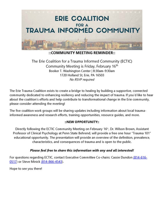 Upcoming Community Meeting!