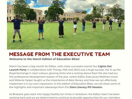 Education Bites: EdSoc Newsletter - March 2021 Issue