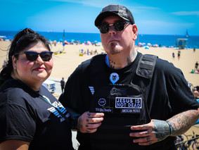 Derrick and Nena on the front lines