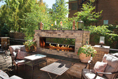 See Through Outdoor Fireplace