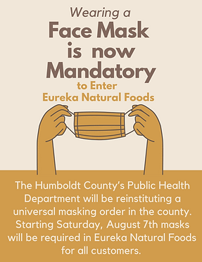 The Humboldt County's Public Health Department are reinstituting a universal masking order