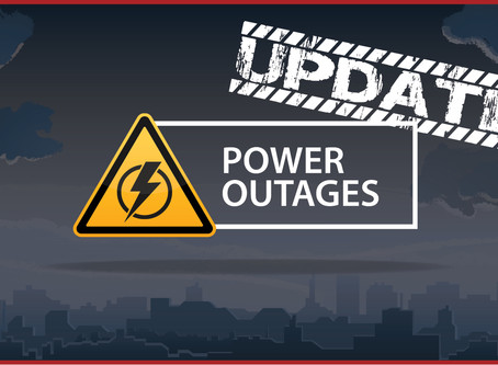 Power Outage Update 10/29/19