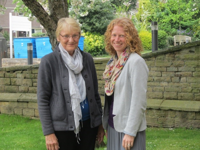 Pic: Anne Russell (left) with Cariad Evans