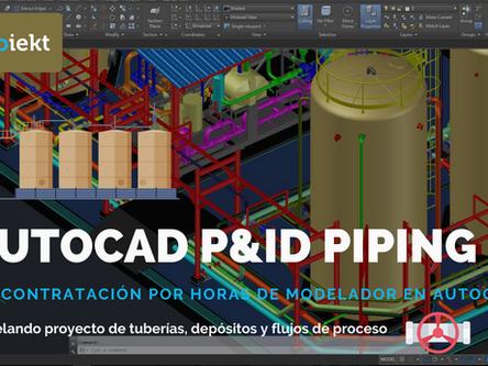 AutoCAD P&ID - Modelando proyecto de tuberías, depósitos y flujos de procesos