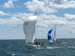 Downwind is fun on Tawas Bay