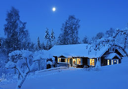 Country-house-night-winter-snow-moon-Dal