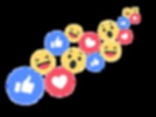 Social media reaction icons