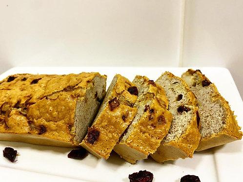 Pão Low Carb rechado de Cranberry e Cebola Roxa