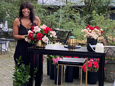 Celebrity Floral Designer Returns to Her Roots