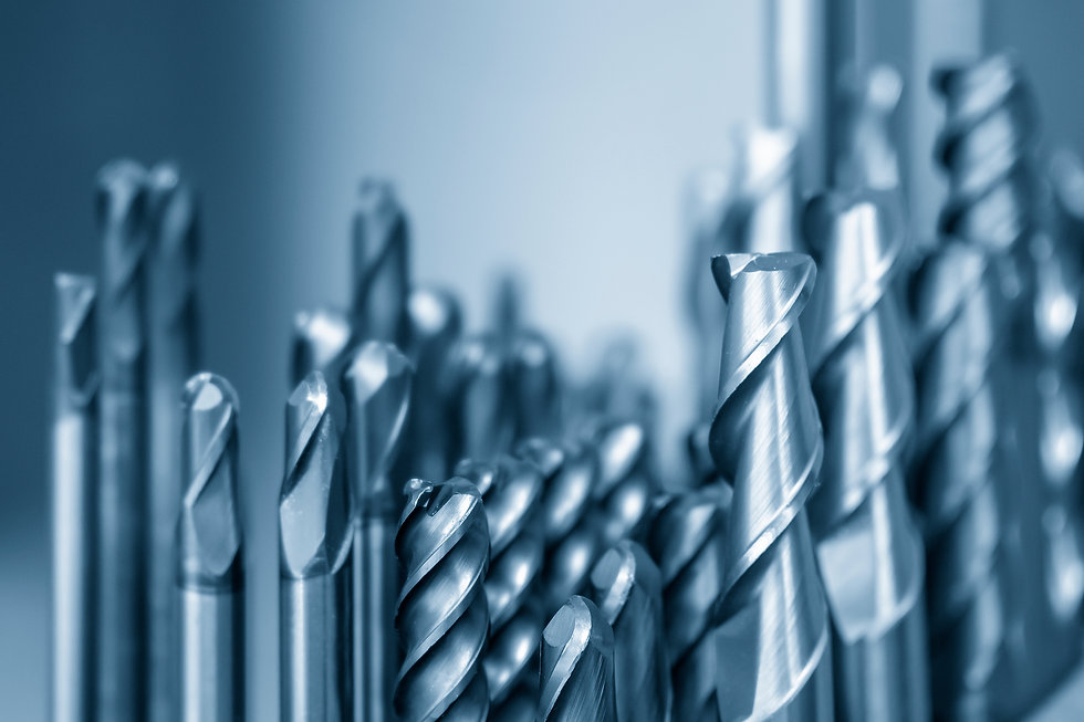 The collection of the  solid  carbide endmill tools for CNC milling machine .The  cutting