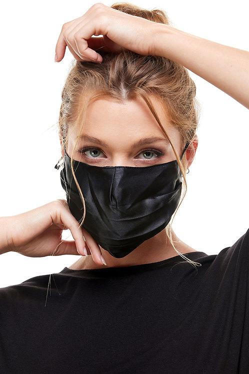 Black Satin Fashion Mask