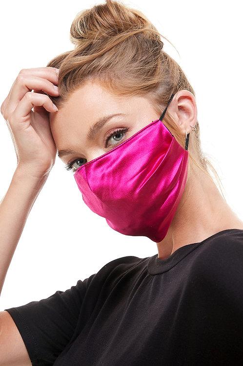 Hot Pink Satin Fashion Mask