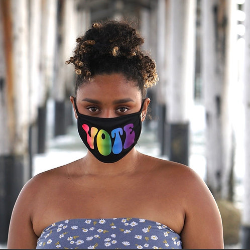 "Rainbow ""Vote"" Fashion Mask"