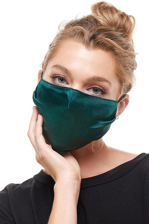 Emerald Green Satin Fashion Mask