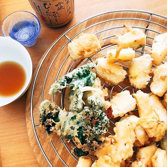 Tempura de légumes du jardin!!!🌱et saké