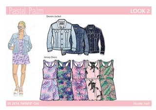 Apparel Design Pastel Palm