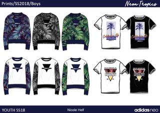 Fashion Print Neon Tropics