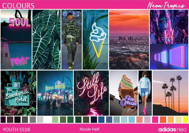 Moodboard Neon Tropics
