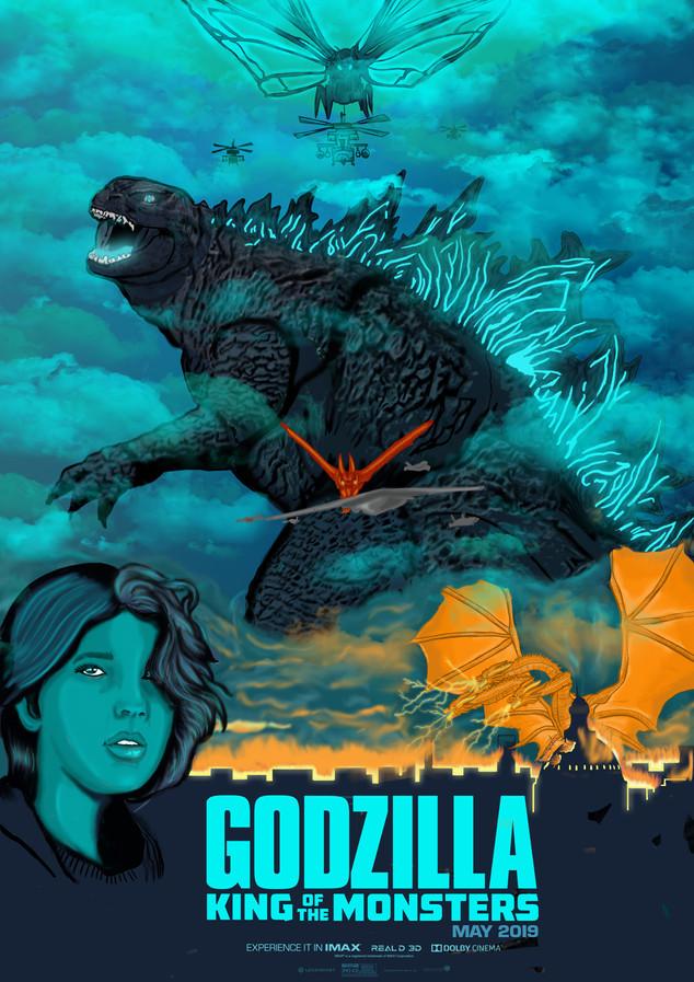 Illustration Godzilla