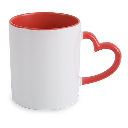 Z-693 : MUG SUBLIMATION FORME COEUR 300 ML