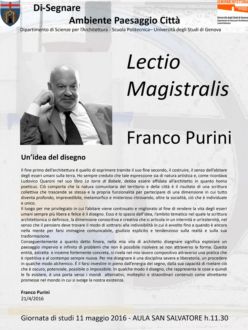 Franco Purini_LECTIO MAGISTRALIS