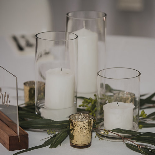 Cylinder Vase with Pillar Candle