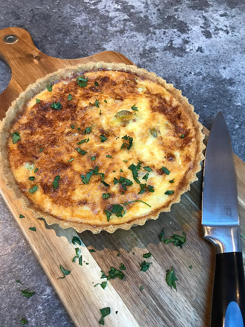 Bacon, Leek and Pea Tart
