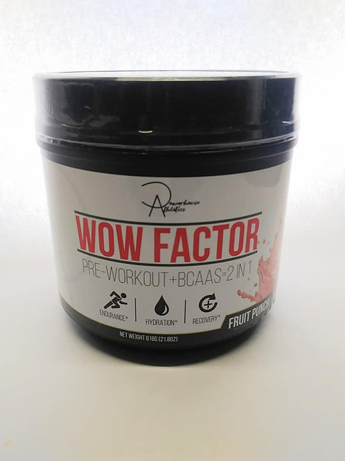 WOW FACTOR: 2-IN-1 PRE WORKOUT + BCAAS (fruit punch)