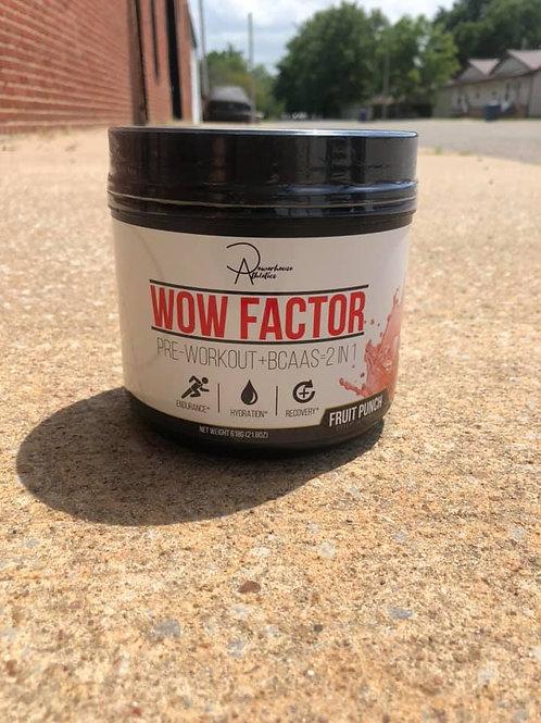 FT. SCOTT, KANSAS SHOPPERS: WOW FACTOR: 2-IN-1 PRE WORKOUT + BCAAS (fruit punch)