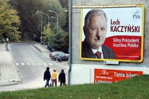 Bilbord wyborczy przy lu. Feliksa Nowowiejskiego, Olsztyn, 2004