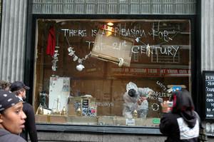 Instalacja w witrynie sklepowej, Londyn, 2006