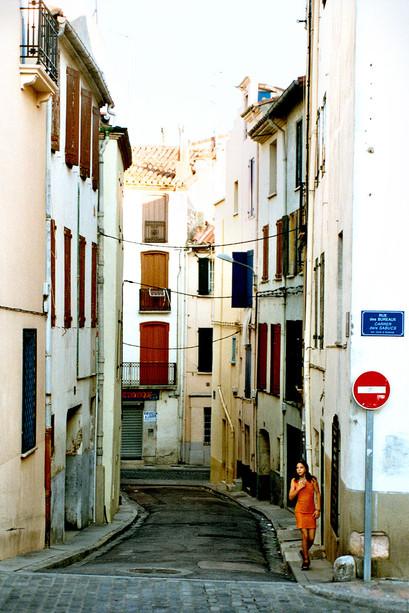 Jedna z wielu takich uliczek, Perpignan, 2001