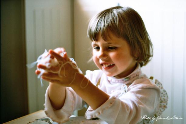 Idalia i jej autorski sposób jedzenia makaronu