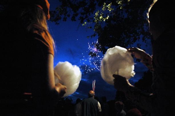 Pokaz sztucznych ogni, Giżycko, 2011