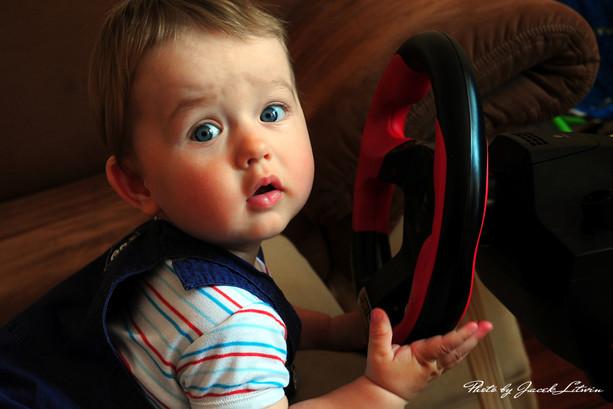 Dawidek jako kierowca rajdowy