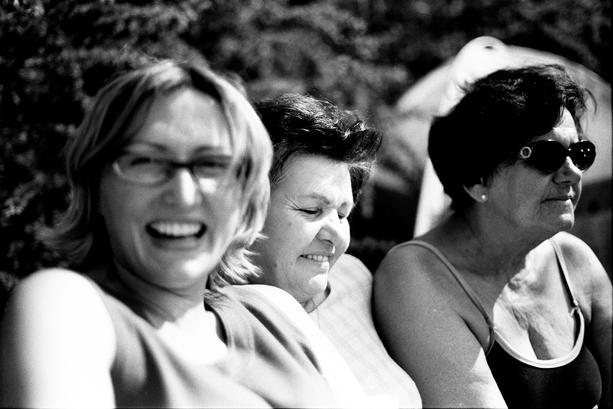 Jola, babcia Irenka i babcia Hania
