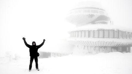 Fotograf Jacek Litwin na Śnieżce