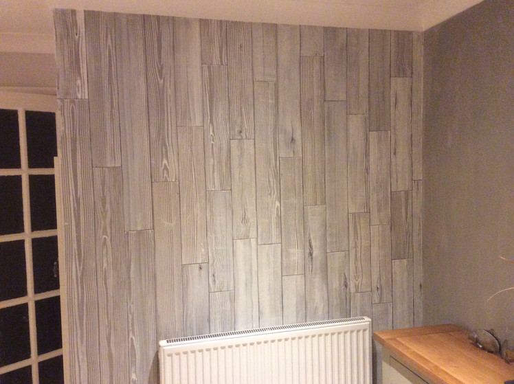 Faux planks wall - 2 of 2