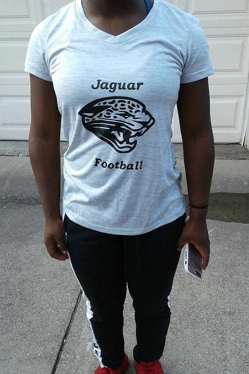 Grey Jaguar V-neck