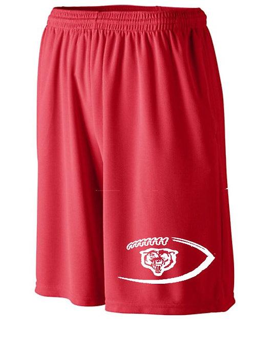 Red Bears Football Shorts