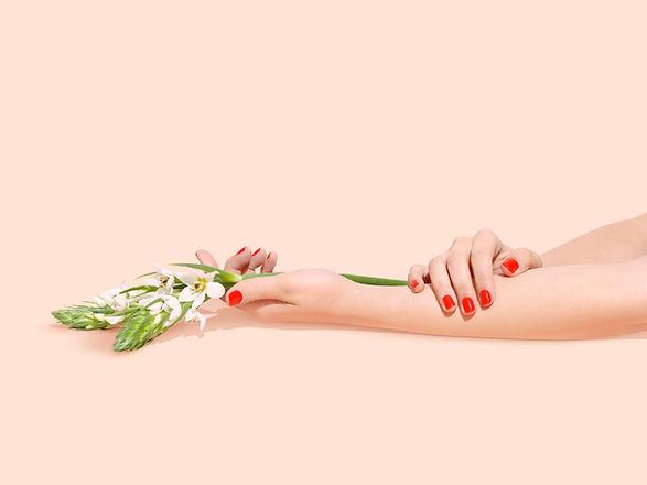 manikürten Hände